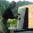 大理石を彫る