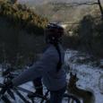 雪の裏山トレールから